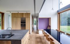 cuisine moderne minimaliste mobilier en bois massif
