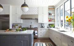 cuisine design retro en blanc