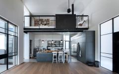 intérieur maison familiale design loft industriel cuisine