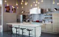 cuisine design au comptoir rustique