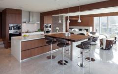 belle cuisine moderne ouverte aménagée
