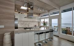 décoration éclectique cuisine moderne contemporaine ouverte