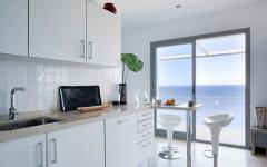 Cuisine en blanc villa de vacances exotiques
