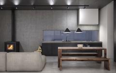 cuisine design industriel minimaliste