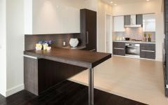 cuisine aménagée ouverte résidence de standing