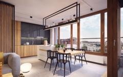 cuisine ouverte américaine appartement citadin