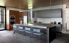 belle cuisine ouverte américaine maison moderne