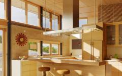 intérieur bois cuisine maison passive auto-suffisante