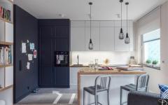 cuisine ouverte appartement de ville familiale