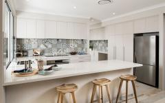 comptoir carrelage mural design cuisine