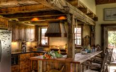 cuisine ouverte design rustique villa de campagne