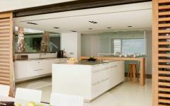 cuisine design ouverte sur extérieur