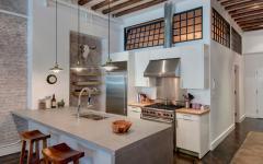 cuisine américaine ouverte loft de ville