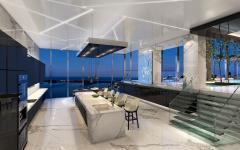 cuisine et salle à manger avec vue penthouse
