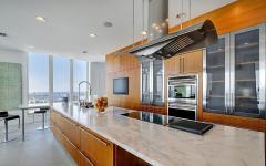 cuisine placards intégrés luxe appartement