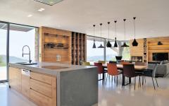 cuisine ouverte villa contemporaine familiale