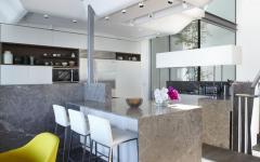 coin cuisine de luxe maison d'architecte sur la plage