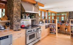 cuisine placards bois chalet moderne