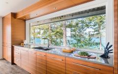 cuisine placards en bois intégrés