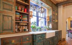 placards cuisine rustique en bois