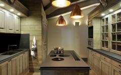 cuisine ameublement rustique belle demeure de ski