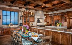 cuisine rustique bois luxe vue mer
