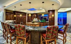 cuisine rustique aménagée luxe