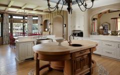 cuisine design luxe rustique maison de vacances