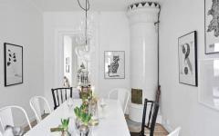 salle à manger en blanc scandinave