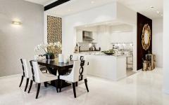 côté séjour salle à manger et cuisine design