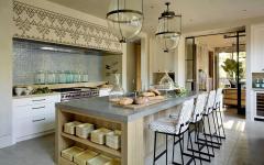 cuisine séparée au design luxueux rustique
