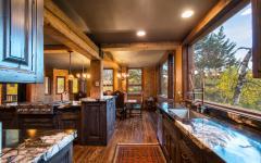 belle cuisine rustique en bois massif