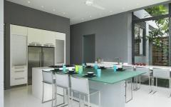 cuisine séparée aménagement moderne villa exotique Phuket