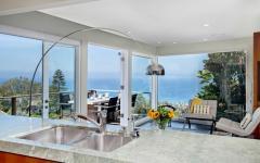 vue panoramique mer depuis cuisine