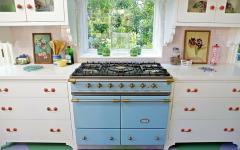 cuisiniere bleue retro années 50 maison de vacances