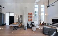 séjour salle à manger maison moderne style loft