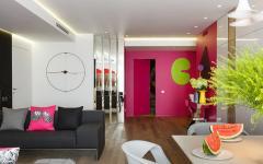 Séjour moderne appartement de ville luxe