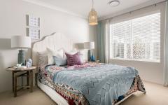 chambre lit double déco épurée