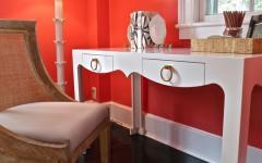 décoration design rouge chambre