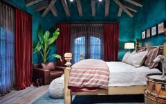 Chambre déco couleurs fortes