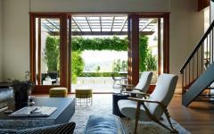 pergola devant le séjour maison moderne