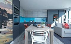 appartement à l'intérieur design moderne