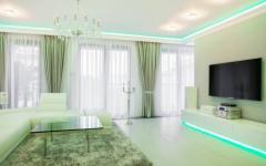 lumières déco LED séjour appartement