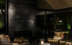 cheminée design sombre