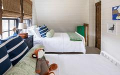 chambre à coucher rustique maison secondaire de campagne
