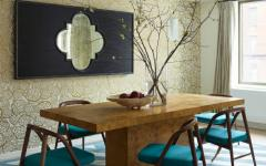 salle à manger turquoise appartement