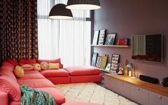 salon assise meubles design coloré
