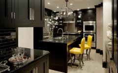 cuisine en noir résidence de luxe