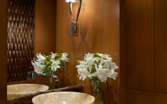 toilette marbre bois déco luxe