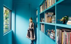 couloirs peints maison de ville rénovée